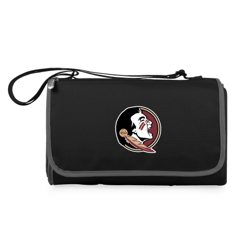 Florida State Seminoles – Blanket Tote Outdoor Picnic Blanket, (Black with Black Exterior)