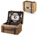 Florida State Seminoles – Champion Picnic Basket, (Black with Brown Accents)