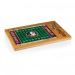 Florida State Seminoles – Icon Glass Top Cutting Board & Knife Set, (Rubberwood & Bamboo)