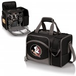 Florida State Seminoles – Malibu Picnic Basket Cooler, (Black with Gray Accents)