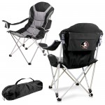 Florida State Seminoles – Reclining Camp Chair, (Black with Gray Accents)