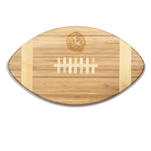 Florida State Seminoles – Touchdown! Football Cutting Board & Serving Tray, (Bamboo)