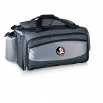 Florida State Seminoles – Buccaneer Portable Charcoal Grill & Cooler Tote, (Black with Gray Accents)