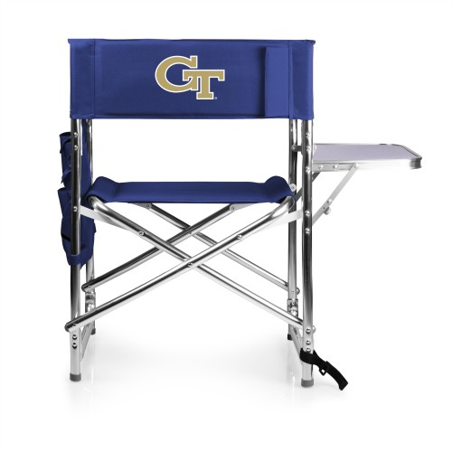 Georgia Tech Yellow Jackets – Sports Chair, (Navy Blue)