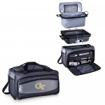 Georgia Tech Yellow Jackets – Buccaneer Portable Charcoal Grill & Cooler Tote, (Black with Gray Accents)