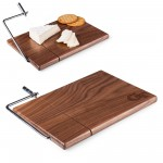 Georgia Tech Yellow Jackets – Meridian Black Walnut Cutting Board & Cheese Slicer, (Black Walnut)