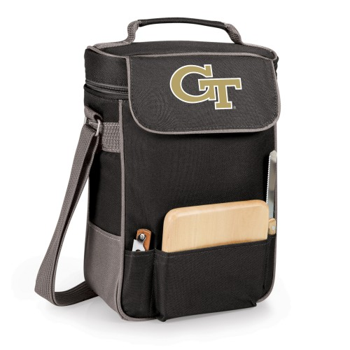 Georgia Tech Yellow Jackets – Duet Wine & Cheese Tote, (Black with Gray Accents)