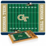 Georgia Tech Yellow Jackets – Icon Glass Top Cutting Board & Knife Set, (Rubberwood & Bamboo)