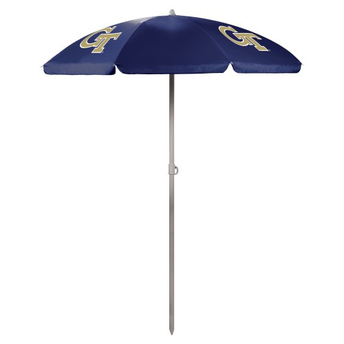 Georgia Tech Yellow Jackets – 5.5 Ft. Portable Beach Umbrella, (Navy Blue)