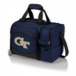 Georgia Tech Yellow Jackets – Malibu Picnic Basket Cooler, (Navy Blue with Black Accents)