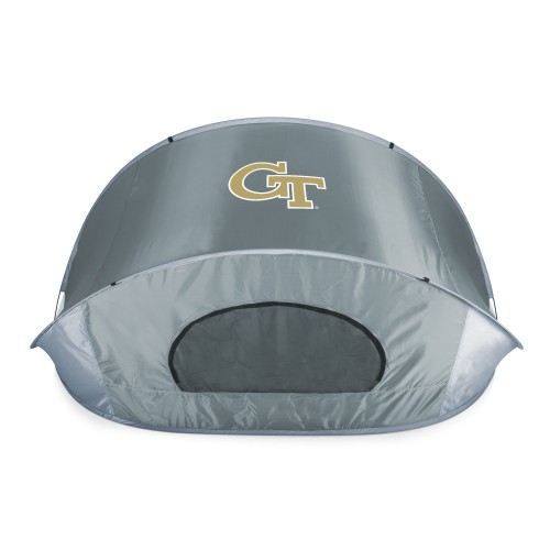 Georgia Tech Yellow Jackets – Manta Portable Beach Tent, (Gray with Black Accents)