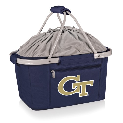 Georgia Tech Yellow Jackets – Metro Basket Collapsible Cooler Tote, (Navy Blue)