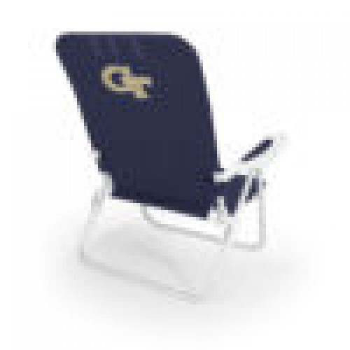 Georgia Tech Yellow Jackets – Monaco Reclining Beach Backpack Chair, (Navy Blue)