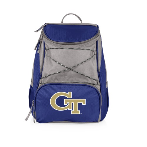 Georgia Tech Yellow Jackets – PTX Backpack Cooler, (Navy Blue with Gray Accents)