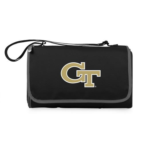 Georgia Tech Yellow Jackets – Blanket Tote Outdoor Picnic Blanket, (Black with Black Exterior)