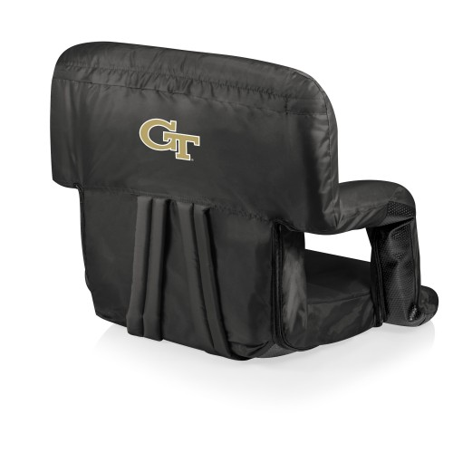 Georgia Tech Yellow Jackets – Ventura Portable Reclining Stadium Seat, (Black)