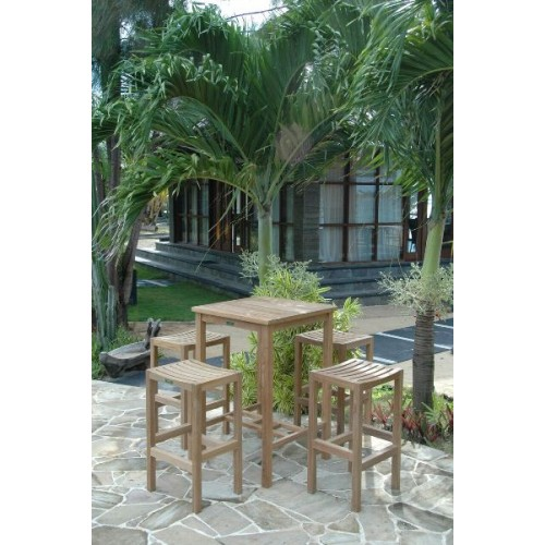Bahama Montego 5-Pieces Square Bar Set