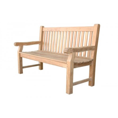 Devonshire 3-Seater Extra Thick Bench w/ Flower Handcrafted