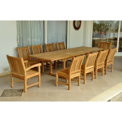 Bahama Sahara 11-Pieces 10' Rectangular Dining Set