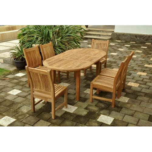 Bahama Sahara 7-Pieces 8' Rectangular Dining Set