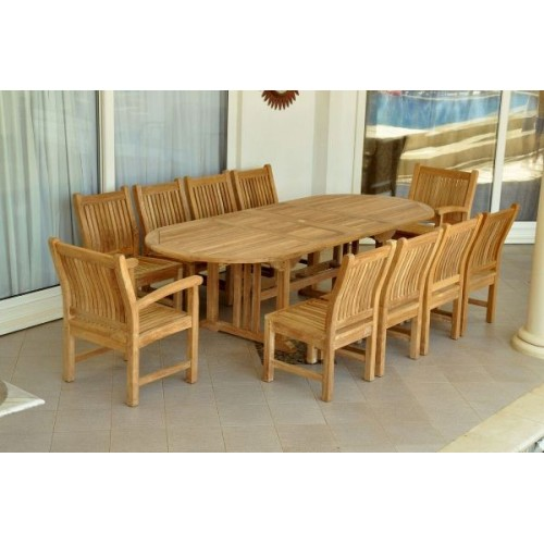 Sahara Dining Side Chair 11-Pieces Oval Dining Set
