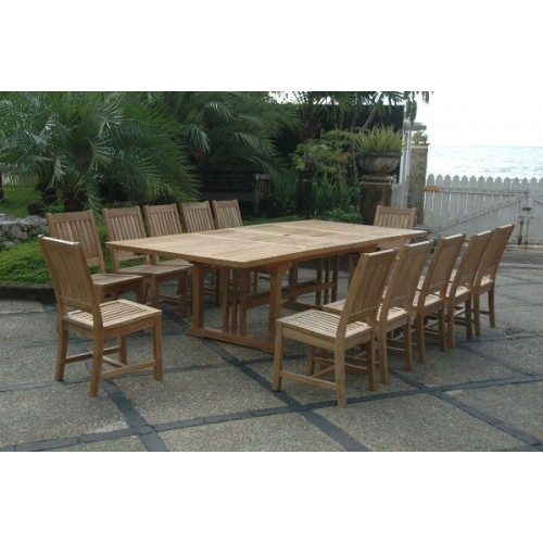 Sahara Rialto 13-Pieces Rectangular Dining Set