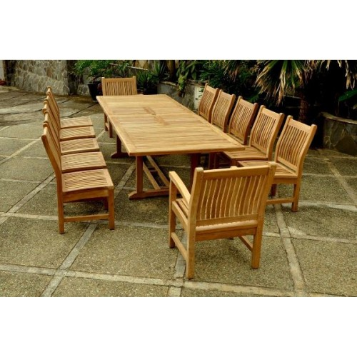 Valencia Sahara 13-Pieces Rectangular Dining Set