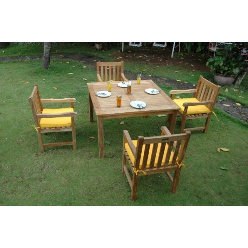 Windsor Classic Armchair 5-Pieces Dining Table Set