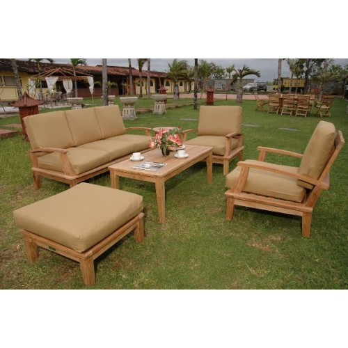 Brianna 5-Pieces Deep Seating Sofa Set