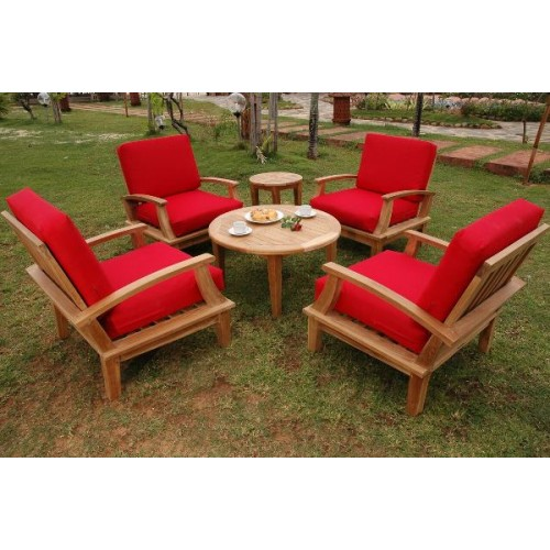 Brianna 6-Pieces Deep Seating Armchair Set