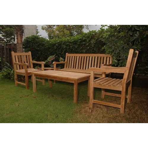 Classic 3-Seater 5-Pieces Conversation Set
