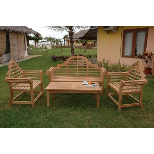 Marlborough 3-Seater 4-Pieces Conversation Set