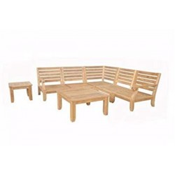 Riviera Luxe 7-Pieces Modular Set with Square Tables