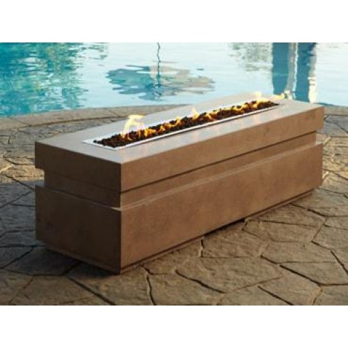 """PLAZA 24"""" OUTDOOR LINEAR FIRE PIT BURNER W/ MATCH LIGHT IGNITION EXTENSION KIT"""