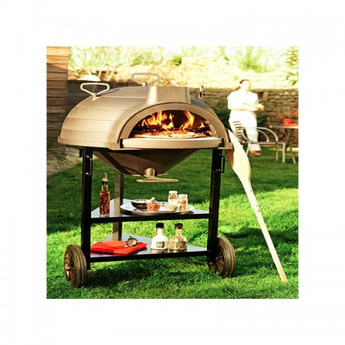 MULTI FUNCTION WOOD OVEN ON TROLLEY