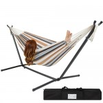 Portable Cotton Hammock with Metal Stand and Carry Case
