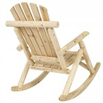 Outdoor Wooden Log Rocking Chair - Adirondack Style