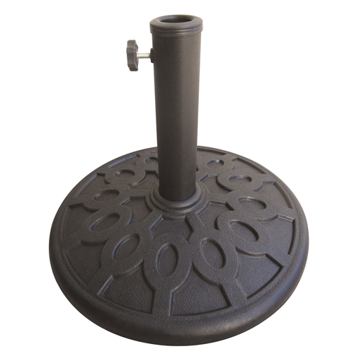 Sturdy Outdoor Resin Umbrella Base in Grey Black Finish