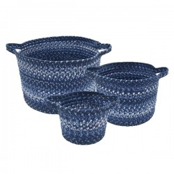 Navy Ultra Durable Braided Basket