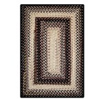 Black Mist Ultra Durable Braided Rugs