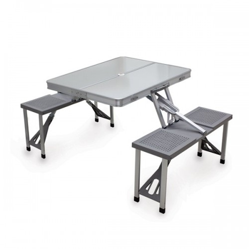 Aluminum Portable Picnic Table with Seats