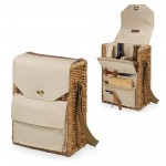 CORSICA WINE & CHEESE PICNIC BASKET, (BEIGE CANVAS)