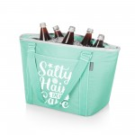 SALTY HAIR DON'T CARE – TOPANGA COOLER TOTE BAG, (TEAL)