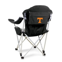 TENNESSEE VOLUNTEERS – RECLINING CAMP CHAIR, (BLACK WITH GRAY ACCENTS)