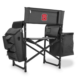 NC STATE WOLFPACK – FUSION BACKPACK CHAIR WITH COOLER, (DARK GRAY WITH BLACK ACCENTS)