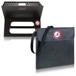 ALABAMA CRIMSON TIDE – X-GRILL PORTABLE CHARCOAL BBQ GRILL, (BLACK)