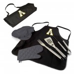 APP STATE MOUNTAINEERS – BBQ APRON TOTE PRO GRILL SET, (BLACK WITH GRAY ACCENTS)