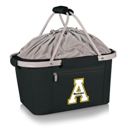 APP STATE MOUNTAINEERS – METRO BASKET COLLAPSIBLE COOLER TOTE, (BLACK)