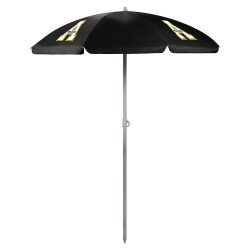 APP STATE MOUNTAINEERS – 5.5 FT. PORTABLE BEACH UMBRELLA, (BLACK)