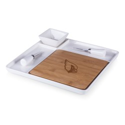 ARIZONA CARDINALS – CUTTING BOARD & SERVING TRAY, (BAMBOO & WHITE CERAMIC)